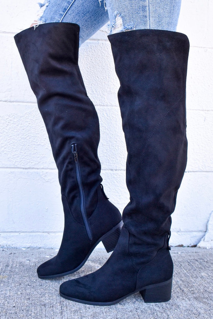 The Holly Boots - Black - Vogue Society