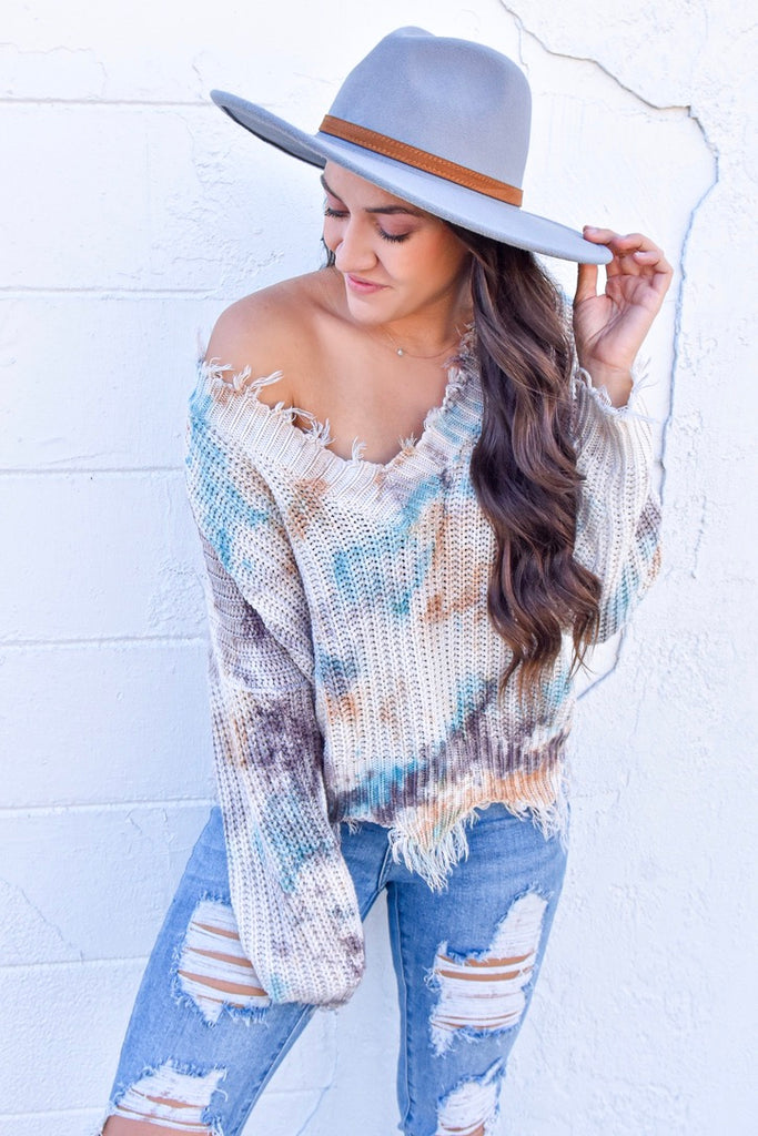 The Cleo Sweater - Blue Mist
