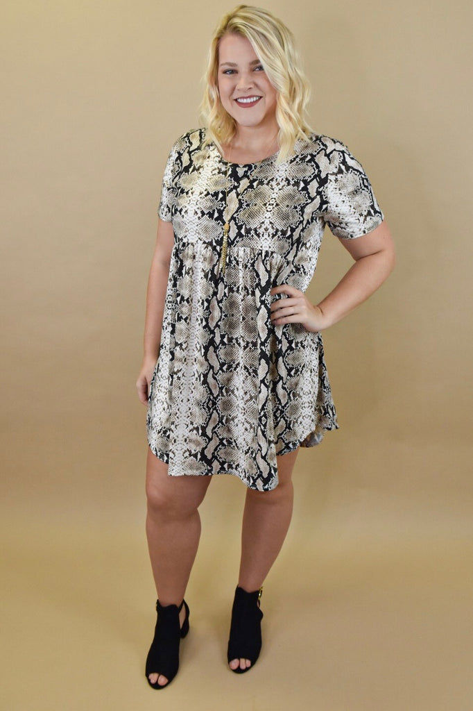 The Python Babydoll Dress