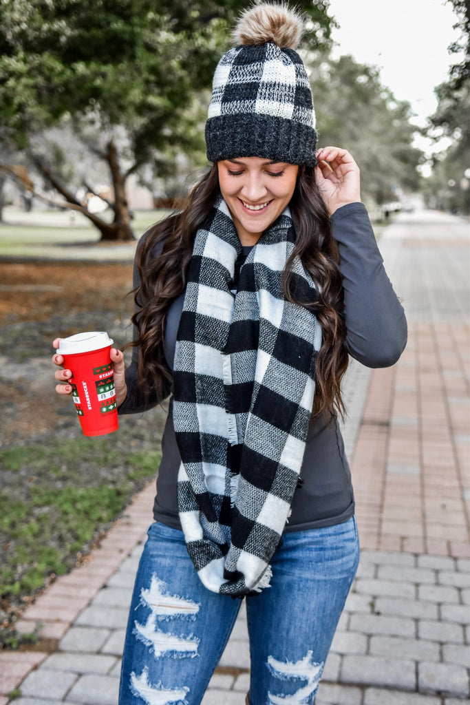 Buffalo Plaid Winter Hat