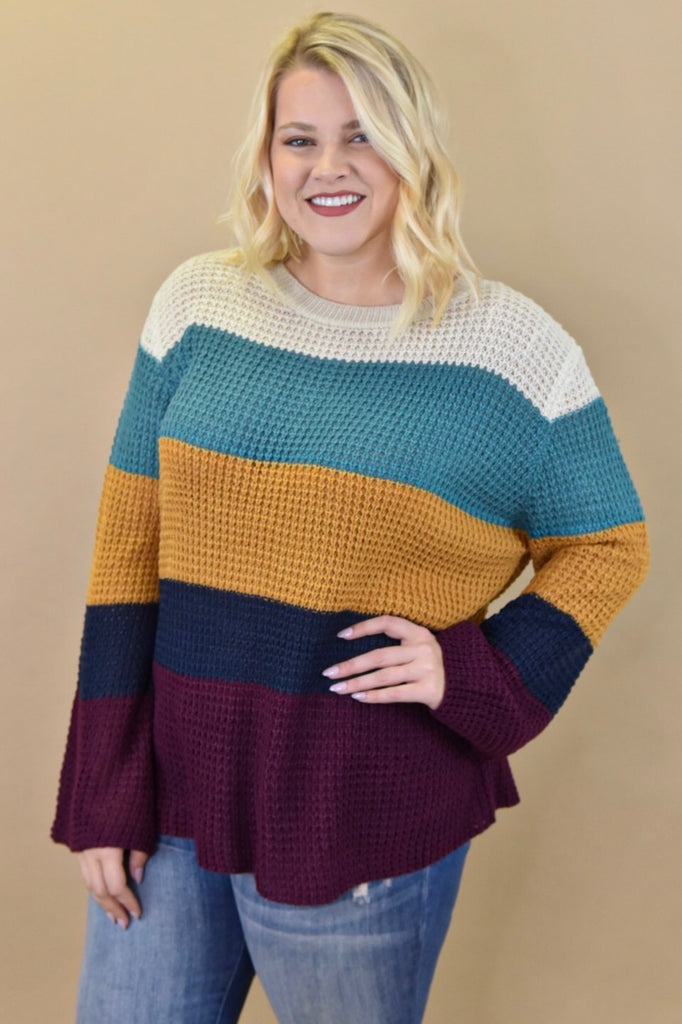 Autumn Stripes Lightweight Sweater