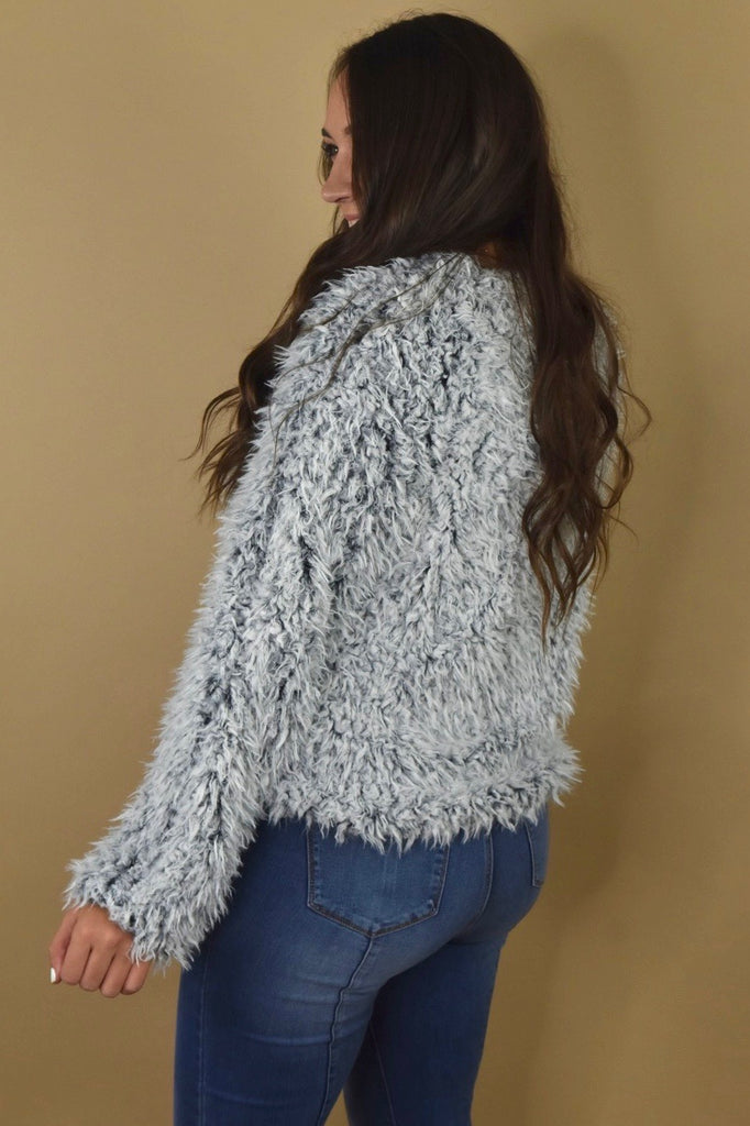 Snowy Holiday Faux Fur Jacket