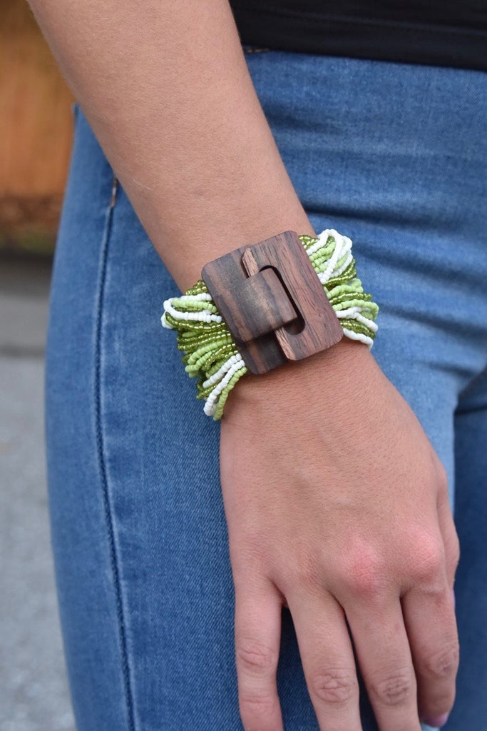 The Buckle Cuff- Green