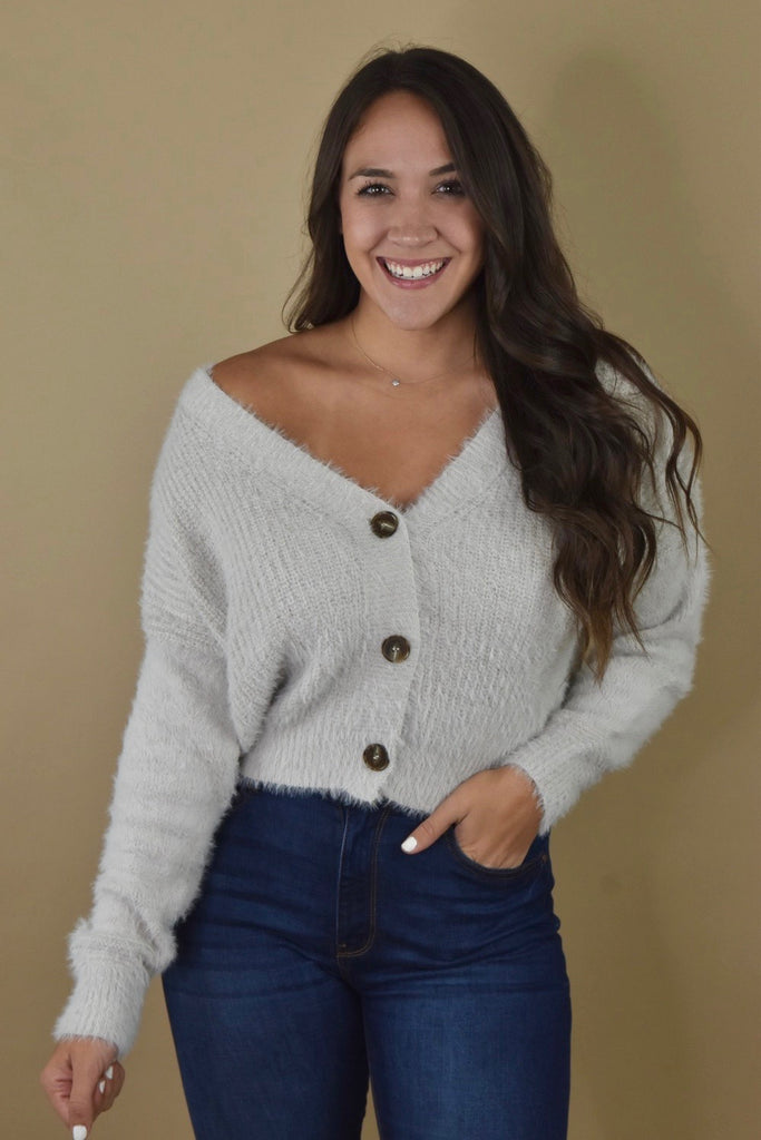 Cozy Button Up Cardigan- Alpaca