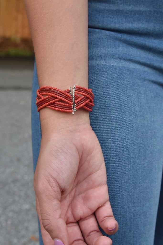 Mini Twist Cuff- Red