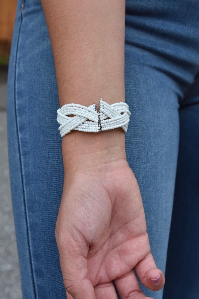 Mini Twist Cuff- White