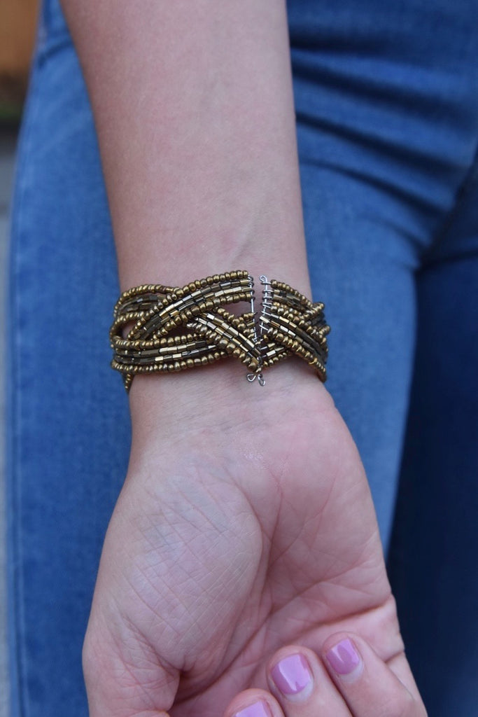 Mini Twist Cuff- Bronze