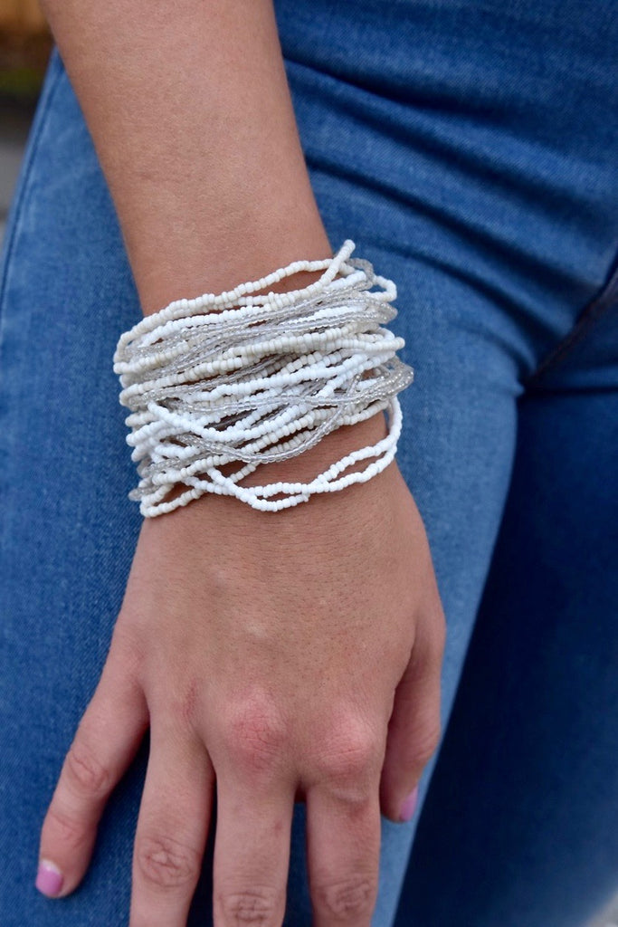 The Buckle Cuff- White
