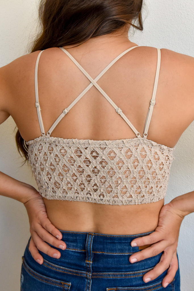 The Lace Bralette- Light Taupe