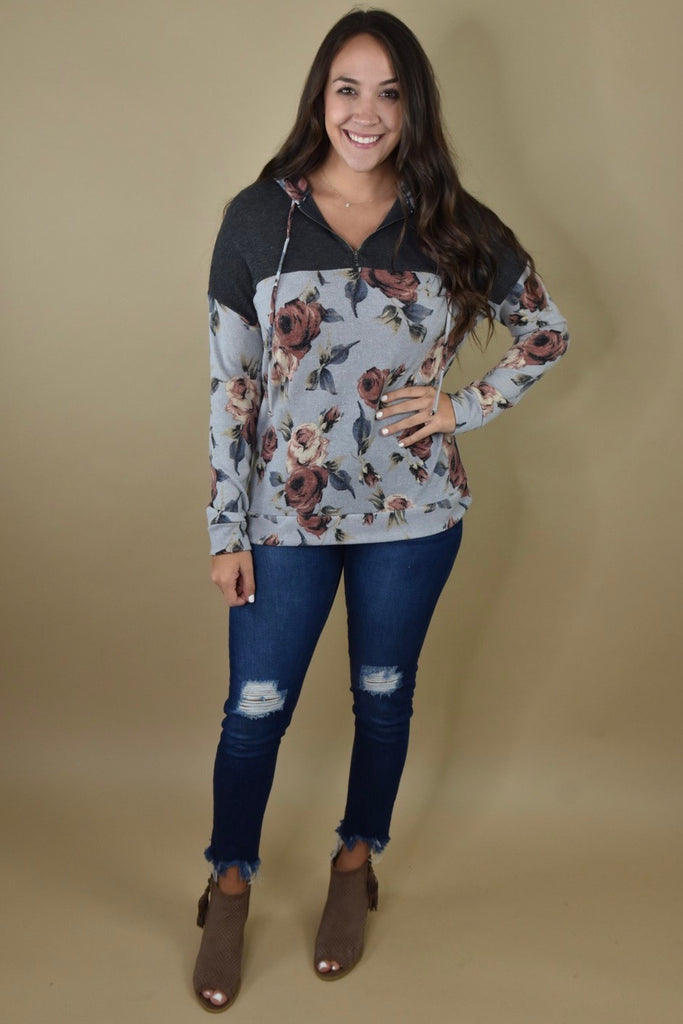 Fall For You Floral Hoodie