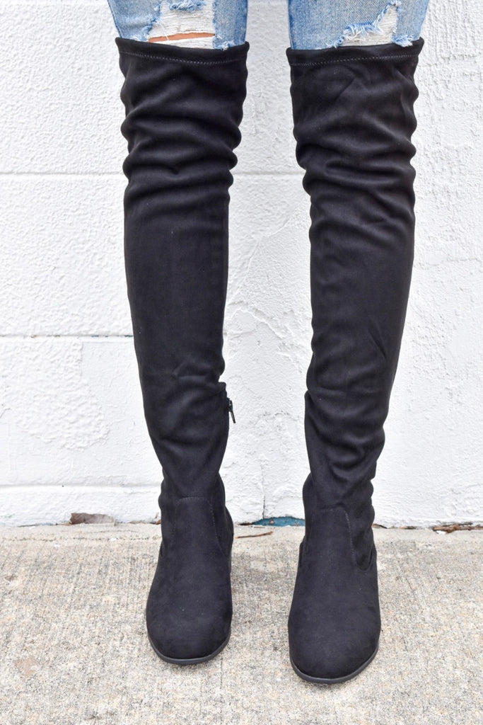 Laurel Over The Knee Black Boots