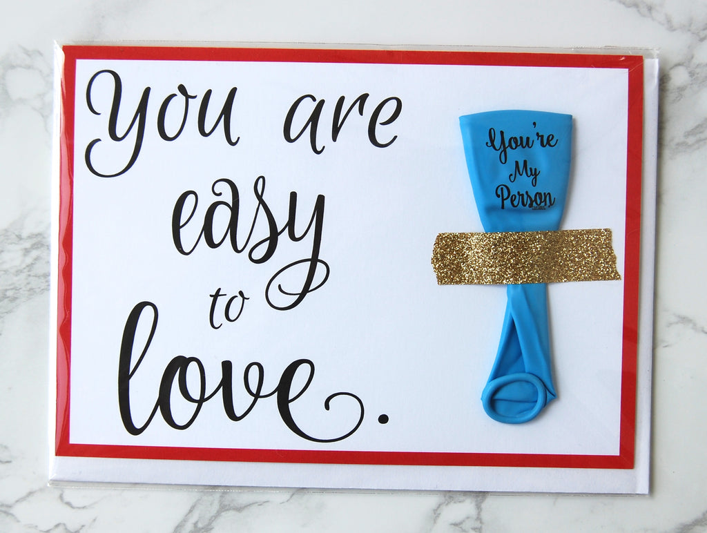 You are Easy to LOVE- Card + Balloon Set