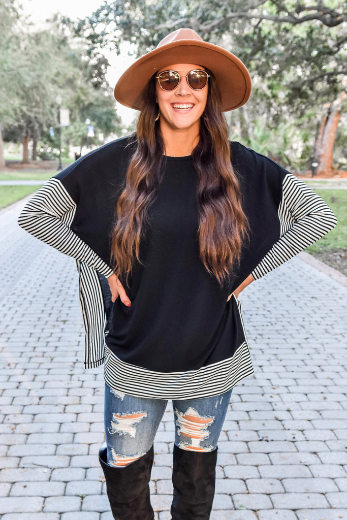 The Charlie Cape Top- Black