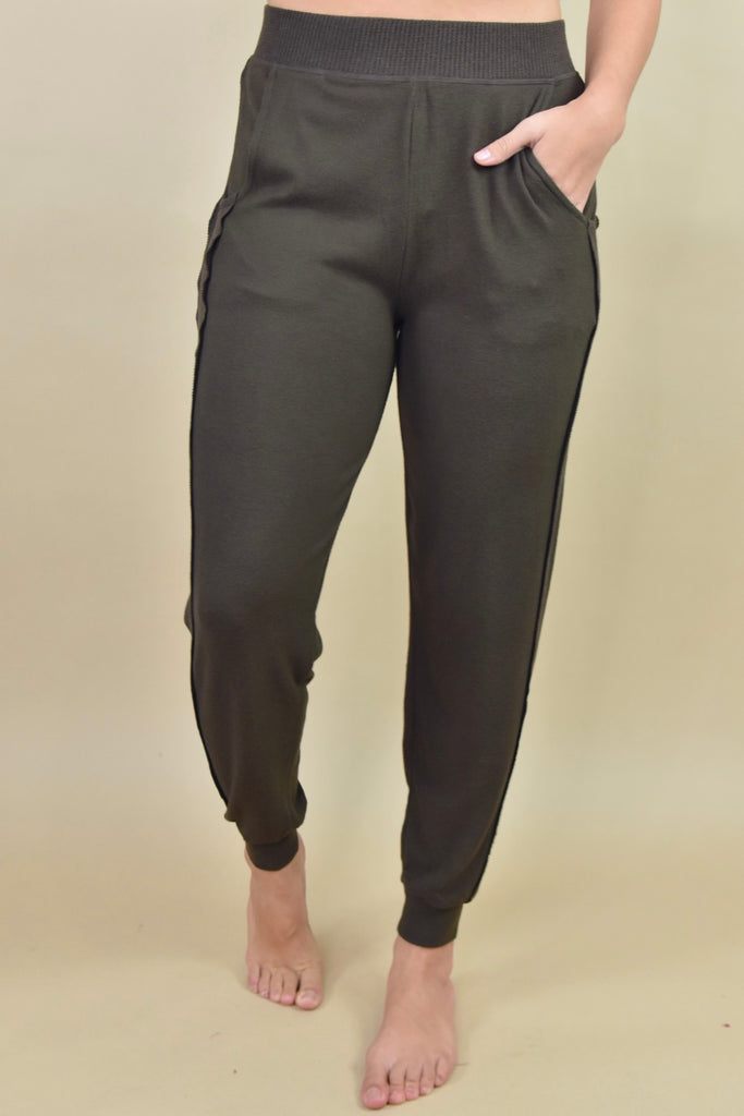 Soft & Stretchy Joggers-  Mocha