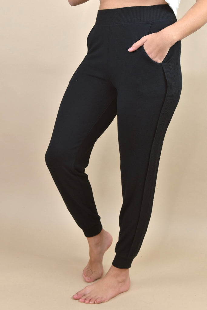 Soft & Stretchy Joggers-  Black