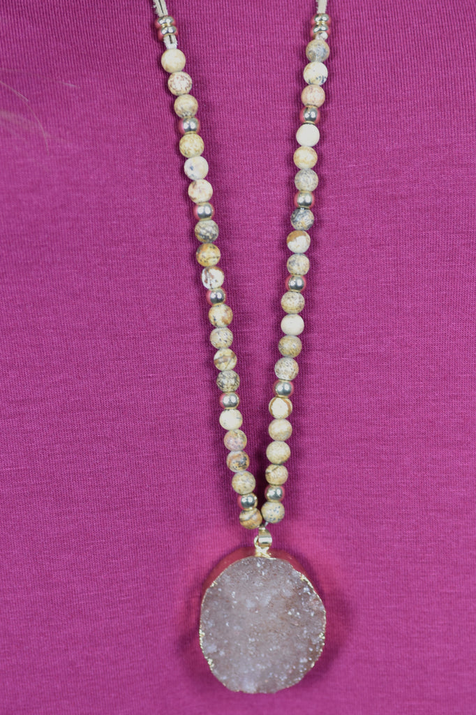 Natural Bliss Stone Necklace