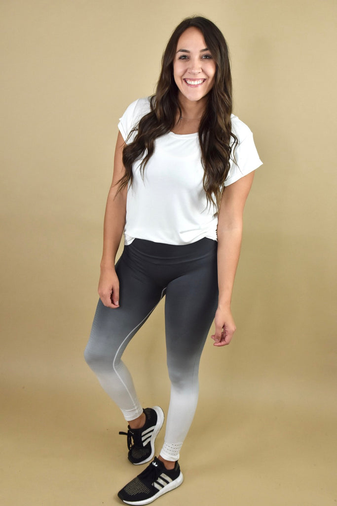 Grey & White Ombre Leggings