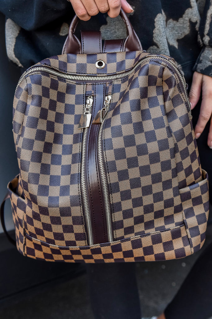 The Chelsea Backpack- Brown - Vogue Society