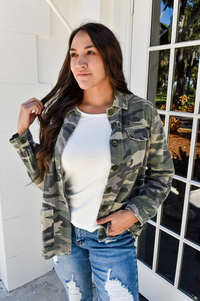 Vintage Vibes Army Jacket - Vogue Society