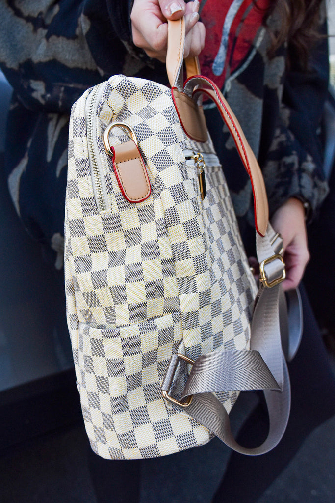 The Chelsea Backpack- Cream - Vogue Society
