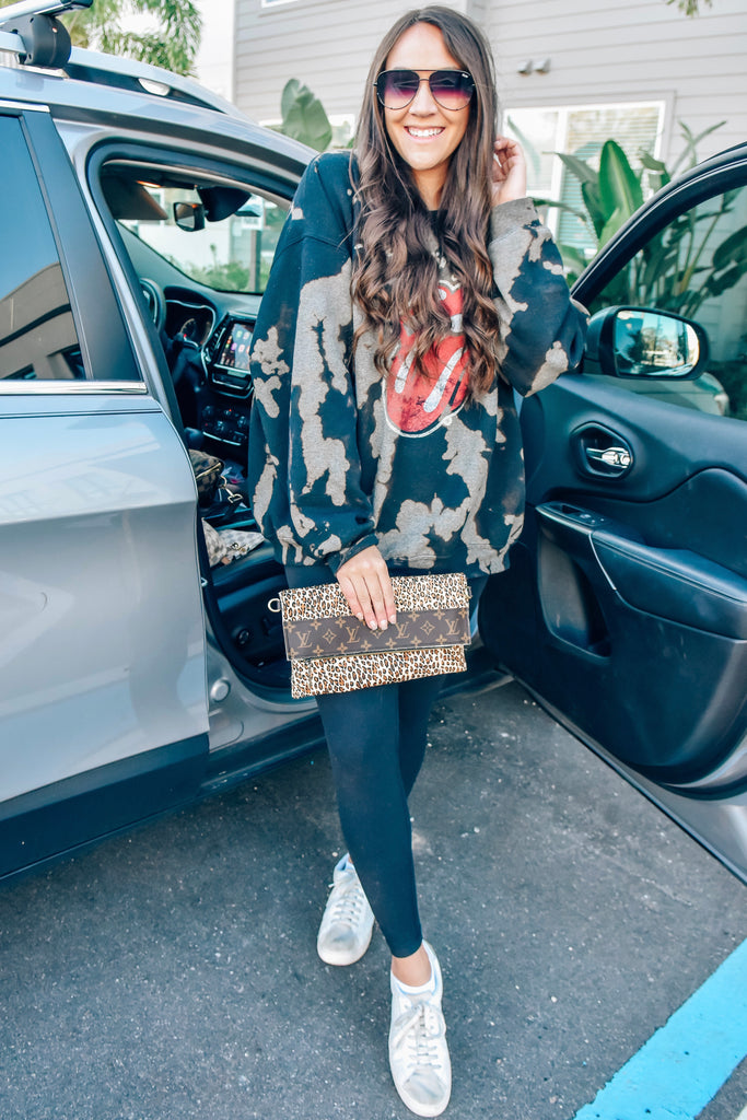 Leopard Repurposed Louis Vuitton Crossbody - Vogue Society