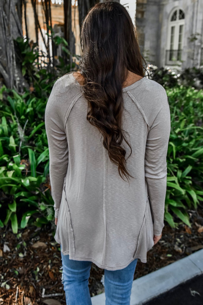 Layered in Latte Henley