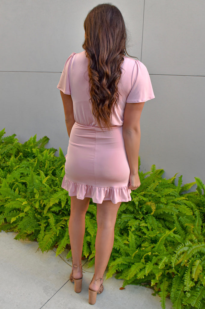 Prior Engagements Pink Overlap Dress