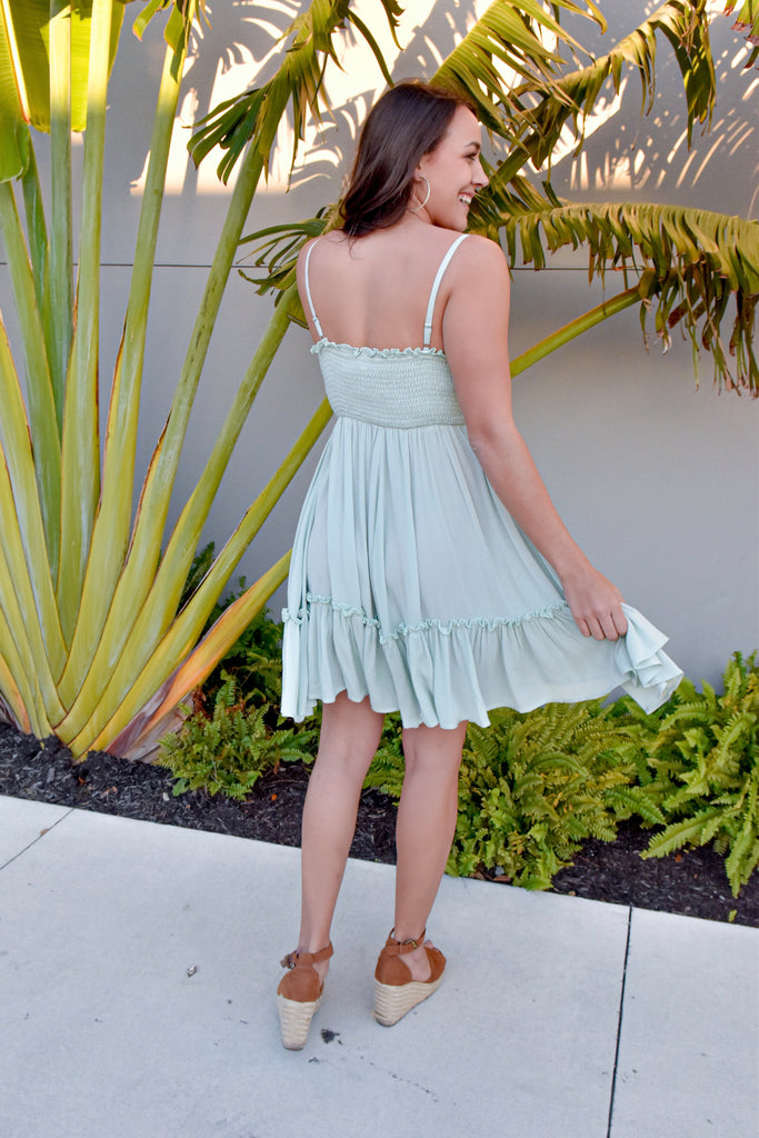 Heart Swoon Mint Swing Dress