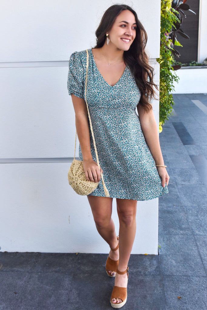 Find My Heart Teal Dress