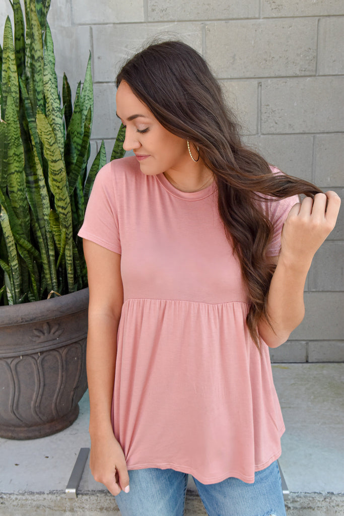 Lovely Day Pink Babydoll Top