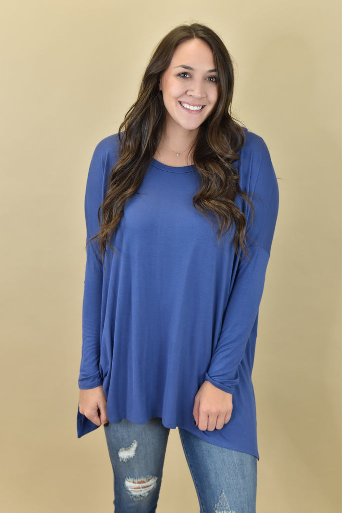 The Simple Tunic- Blue