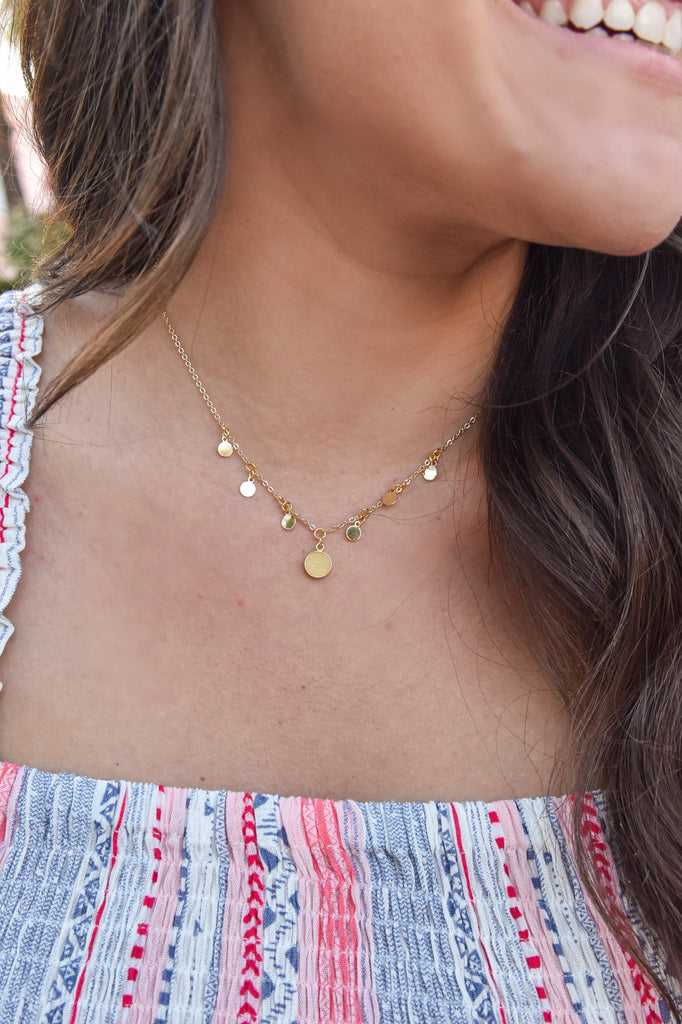 Simply Bubbly Gold Necklace