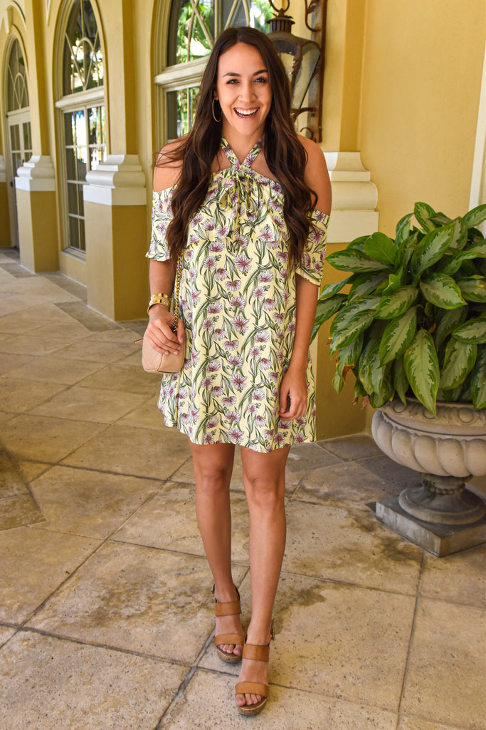 Softly Spoken Yellow Floral Dress