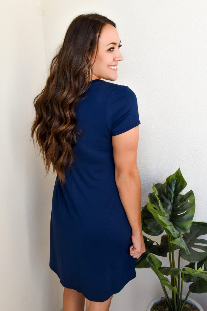Best T-Shirt Dress Ever- Navy