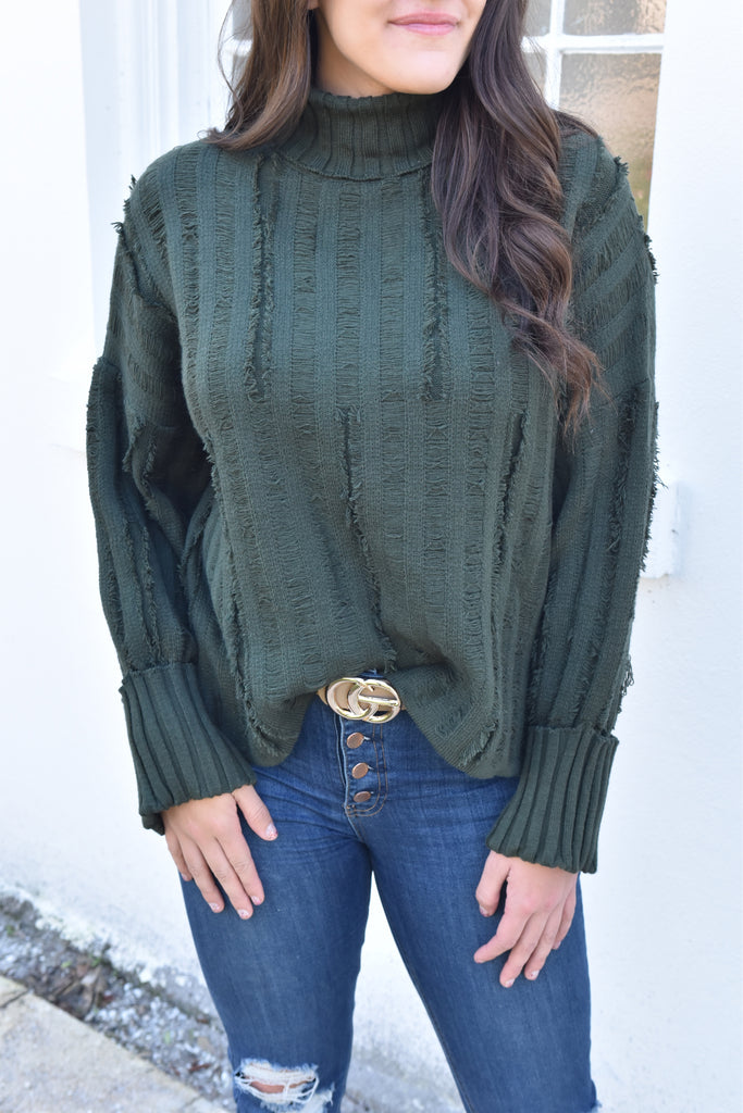 Warm Me Up Sweater - Hunter Green