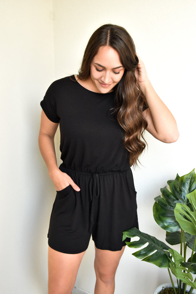 The Basic Babe Romper- Black