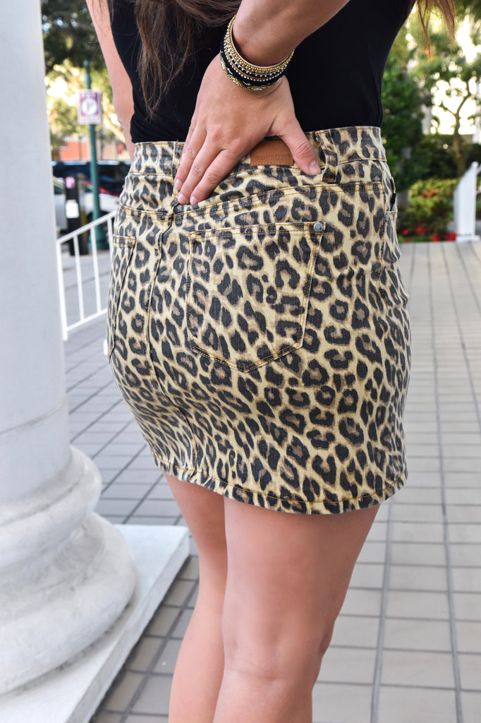 Electric Feel Leopard Skirt