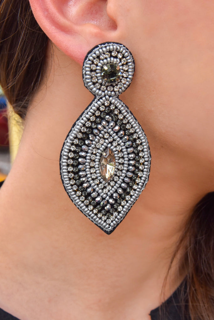 So Pretty Marquise Beaded Earring