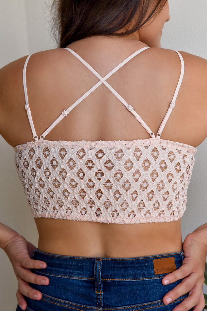 The Lace Bralette- Light Pink