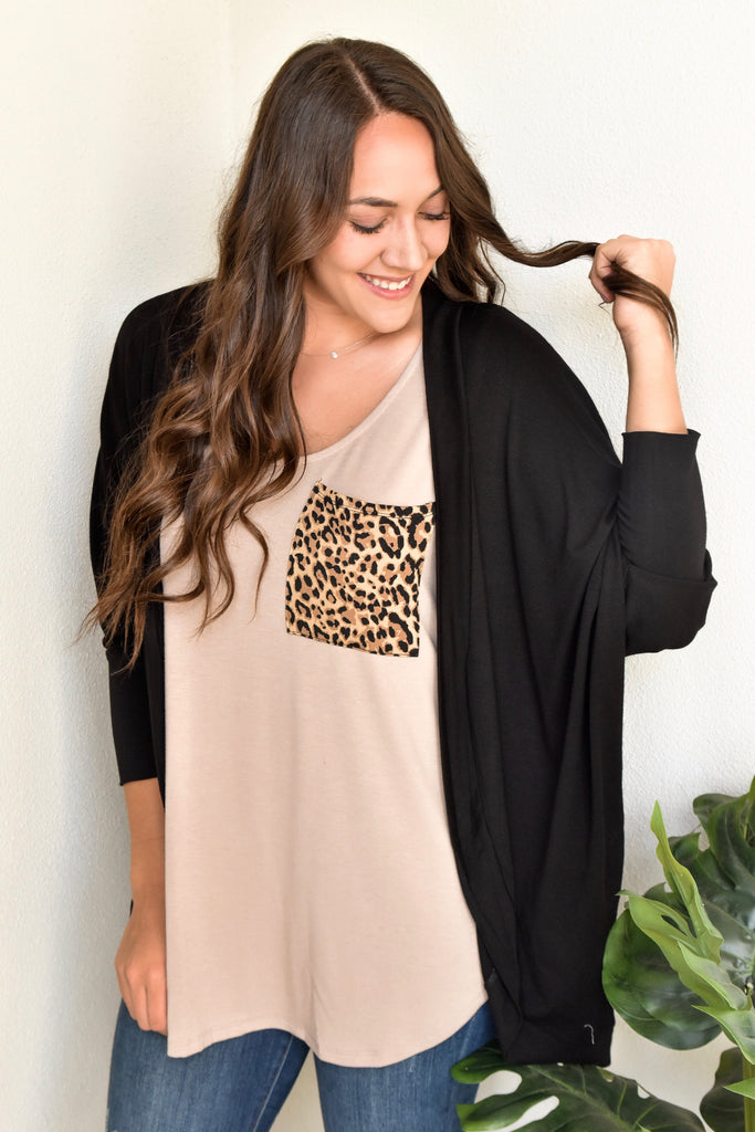 Bubblie Black Cardigan