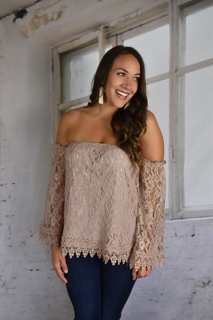 The Lacy Mauve Top