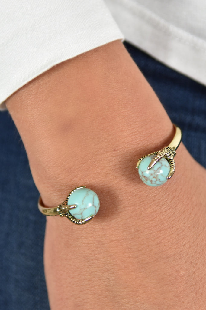 Gold Turquoise Cuff