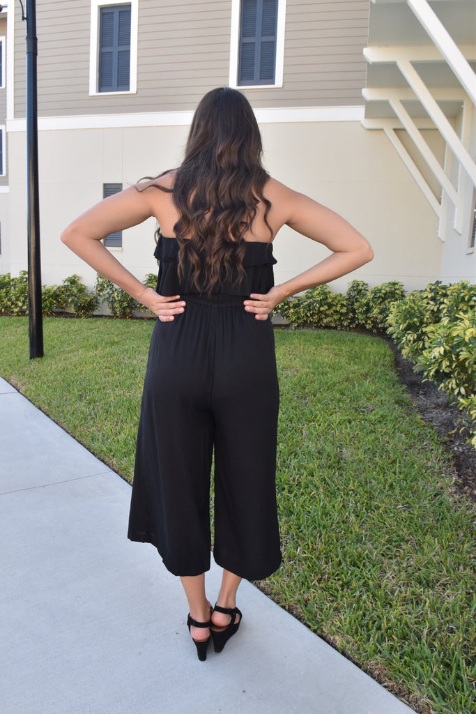 Glam Gal Tube Top Black Jumpsuit
