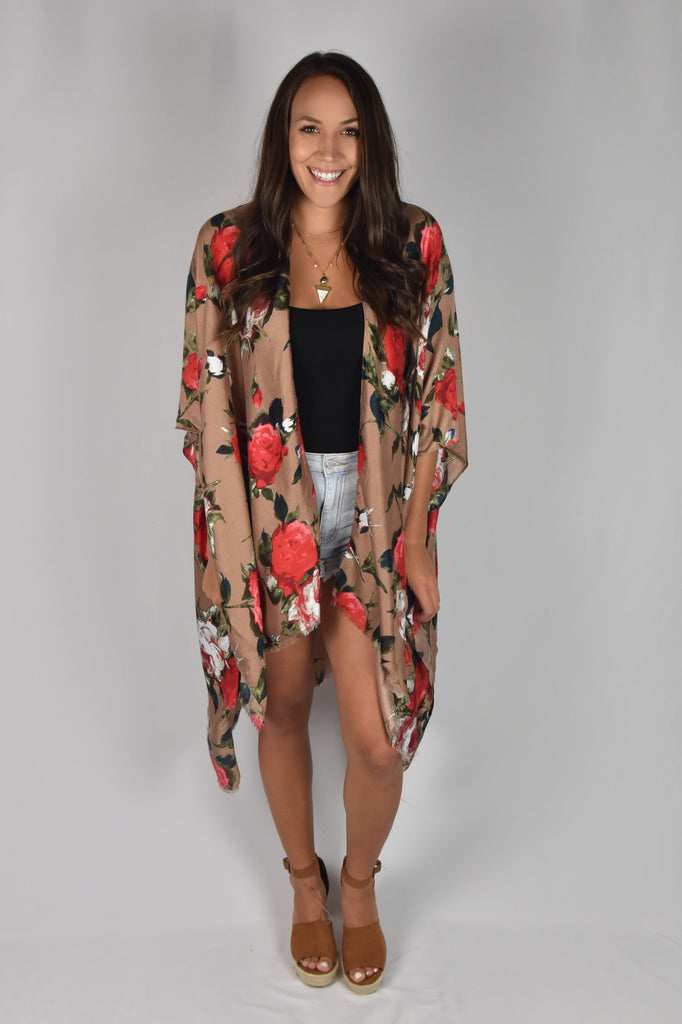 BRONZE First Class Vacation Kimono