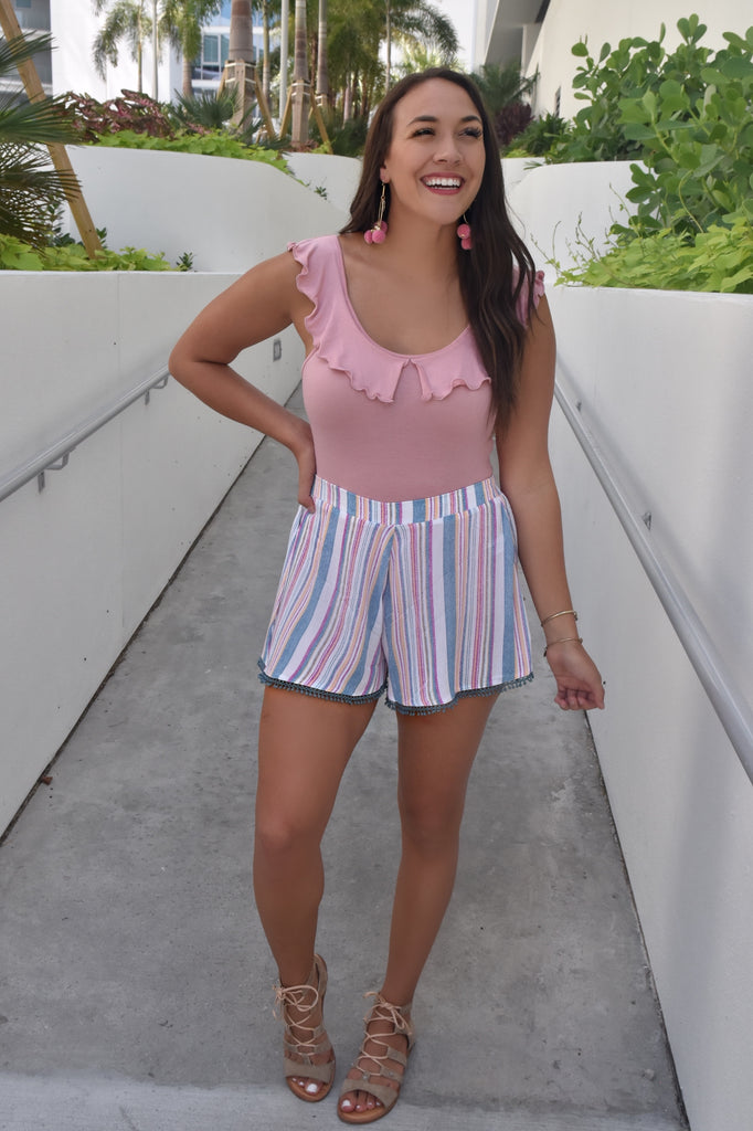Stella Striped Shorts