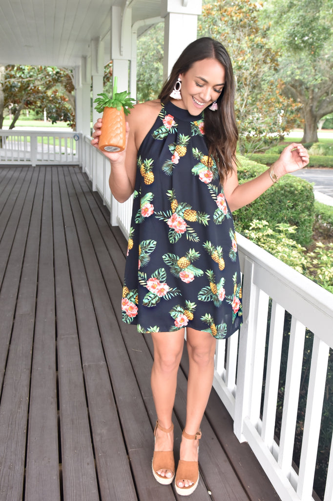 Tropical Pineapple Dress