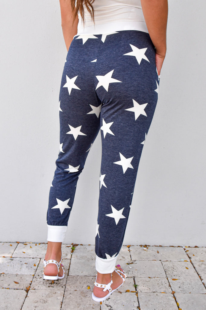 Starry Day Navy Joggers