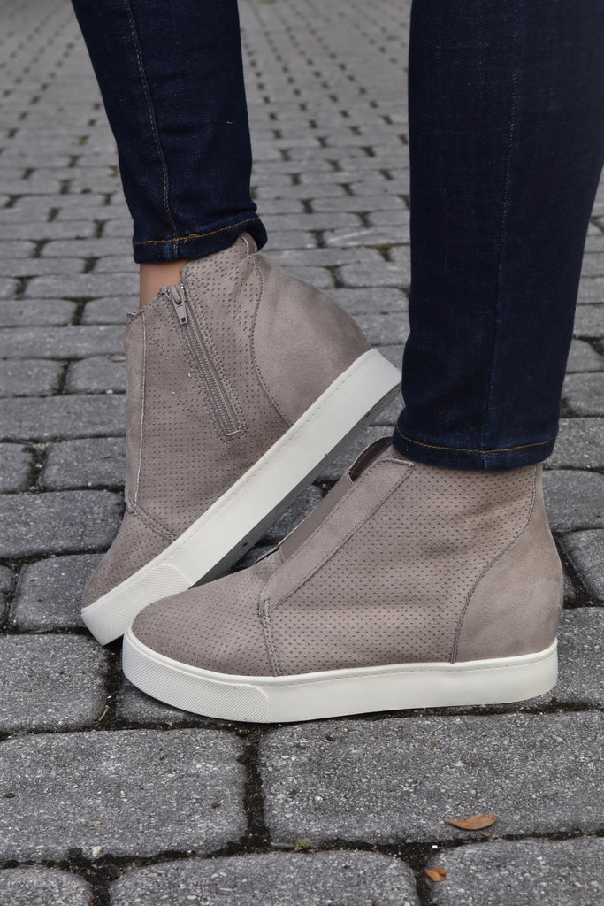 City Glam Taupe Wedge Sneaker