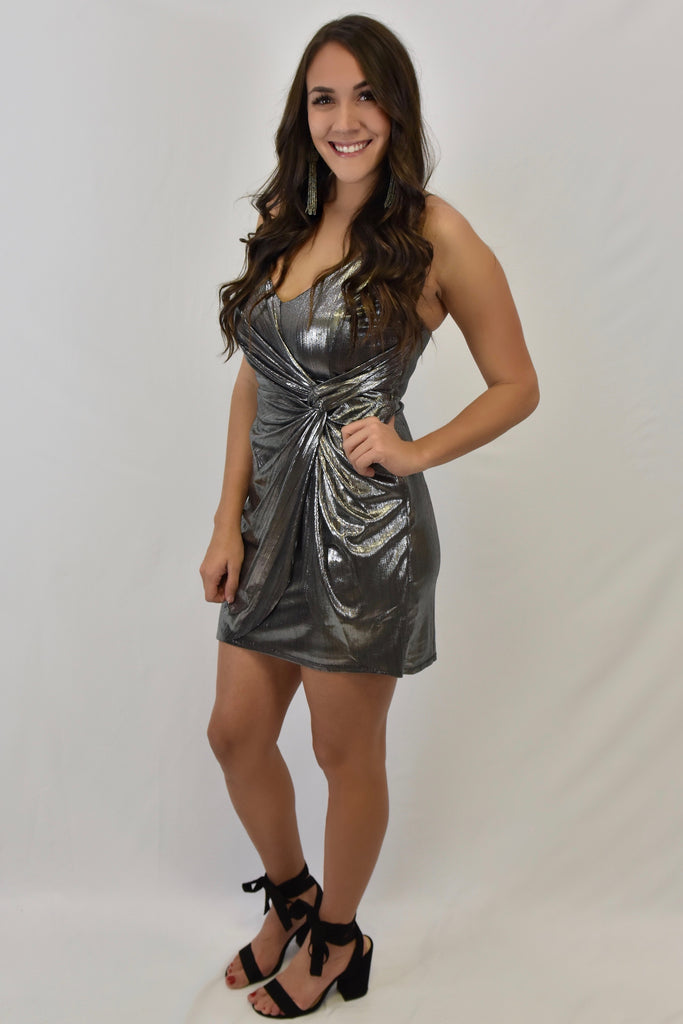 Ringing In the New Year Silver Dress