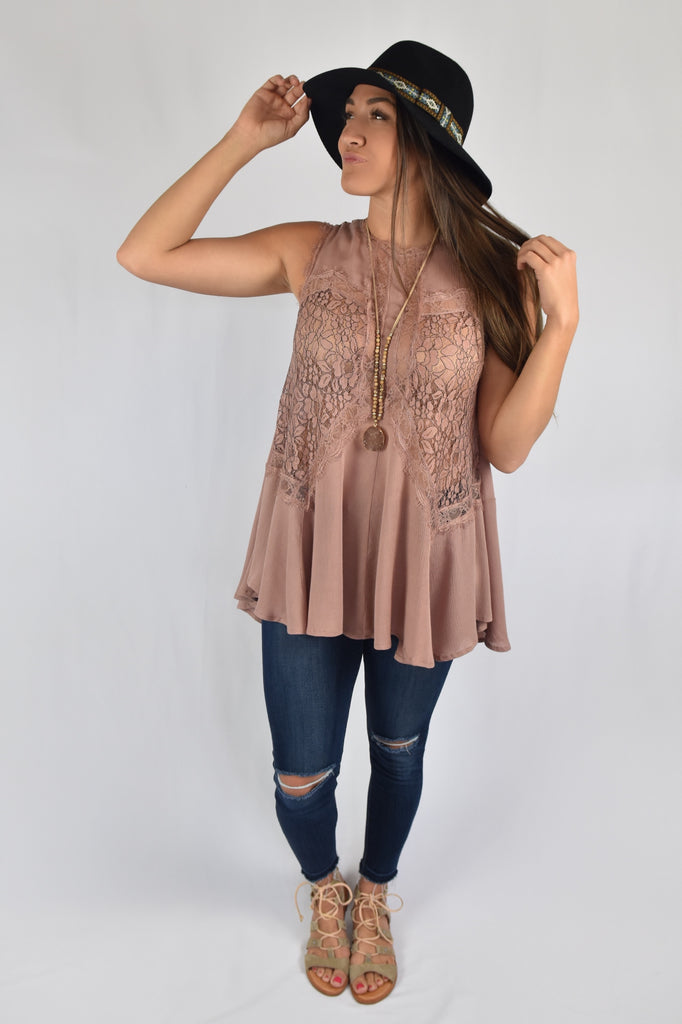 Key To My Heart Lace Top